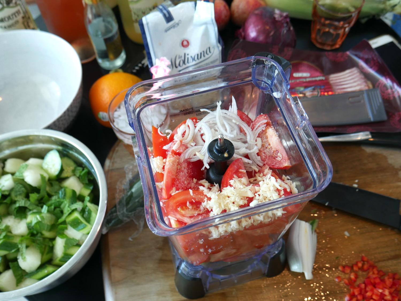 gazpacho in progress hot day .JPG