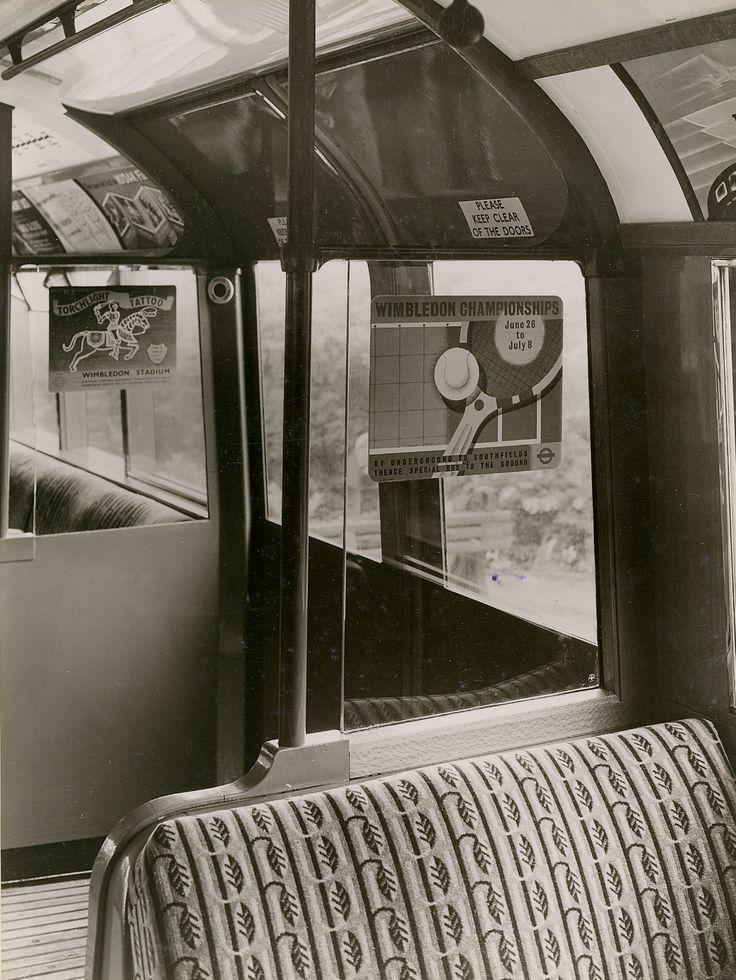 The original Underground leaf design 1930s moquette fabric, 'Colindale Moquette' by Marion Dorn.