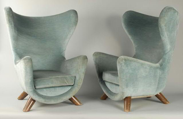 A pair of Jean Royere Elephant chairs