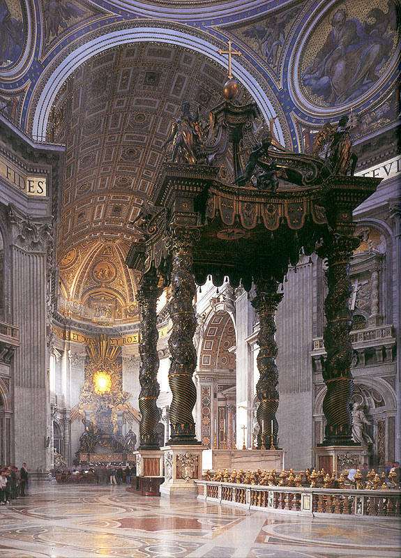 The Baldacchino in St Peter's Basilica, Rome