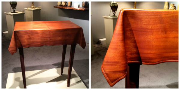 2. Who made this gorgeous drapery table?