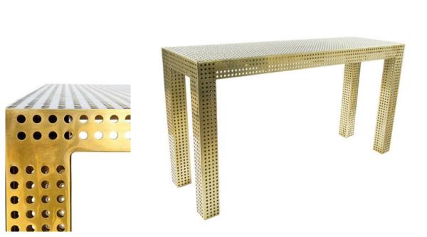 Table designed by Kelly Wearstler.