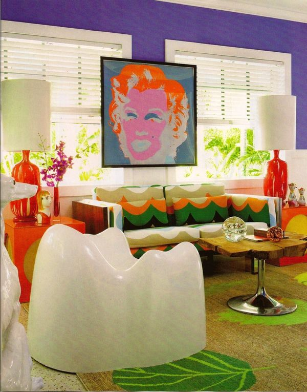 The Molar chair by Wendell Castle used in a room in Miami designed by Doug Meyer Interior