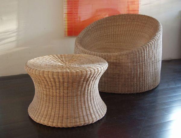 Wicker furniture by Eero Aarnio