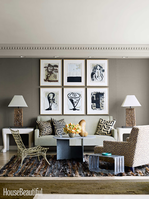 John Dickinson table (and Marcel Wanders rope chair) in the home of Michael Formica