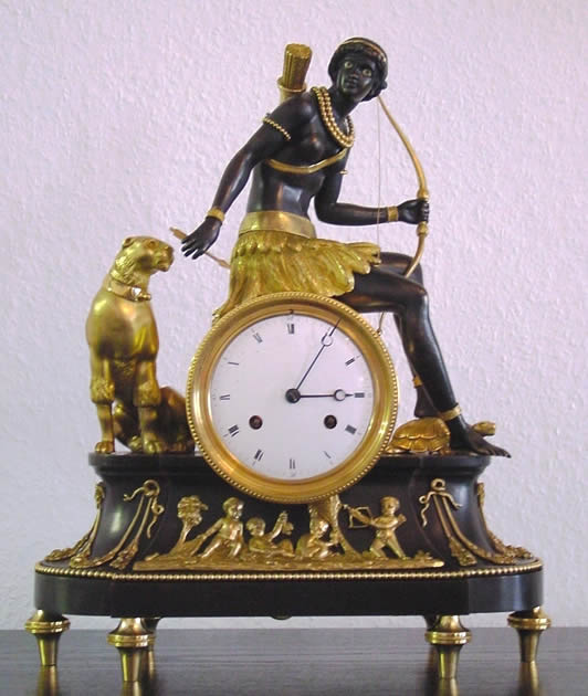 Reproduction clock in the Empire Style