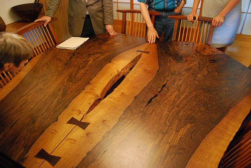 Table by George Nakashima, who often used the butterfly style of dovetail joinery