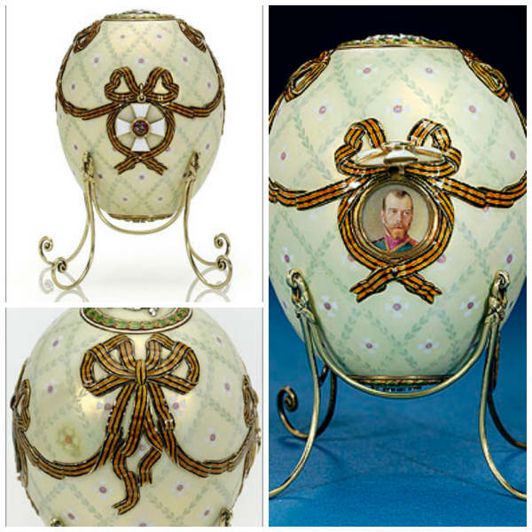 1916 Order of St George Fabrege Egg with ribband decoration