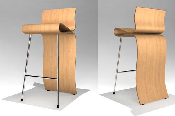 'Ribbon Barstool' Design: Danielle Trofe, Brooklyn, NY