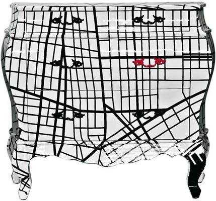 Contemporary white grid chest