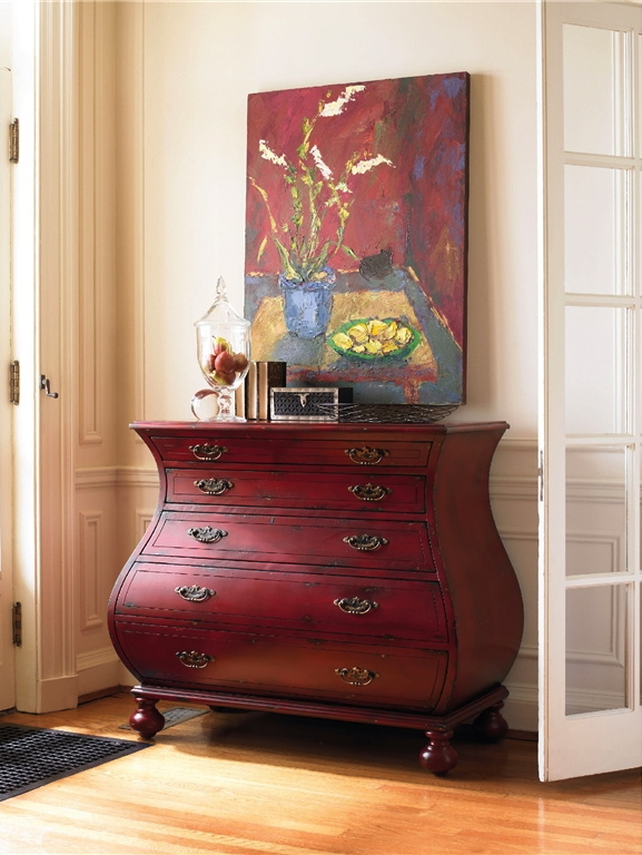 Red chest by my friends at    Hooker Furniture Company