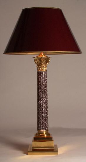 Lamp with Corinthian Column Base