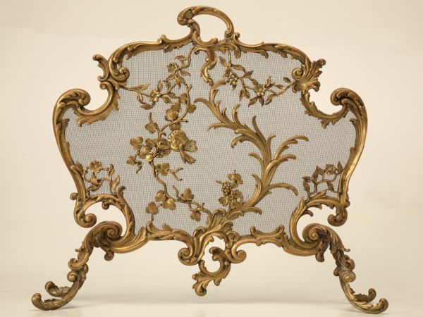 Rococo fireplace screen