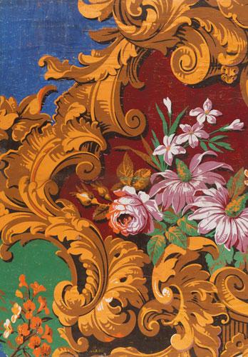 Rococo-style wallpaper