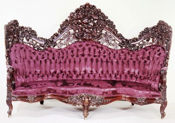 Rococo-revival sofa from the Victorian Period