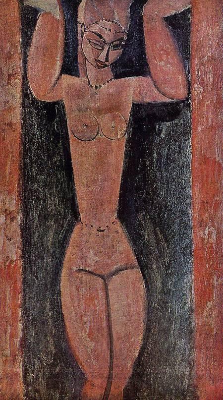 Caryatid painting by Amedeo Modigliani
