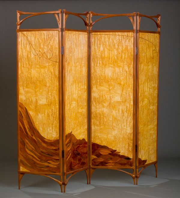 Screen in the Art Nouveau Style created by Virginia Blanchard