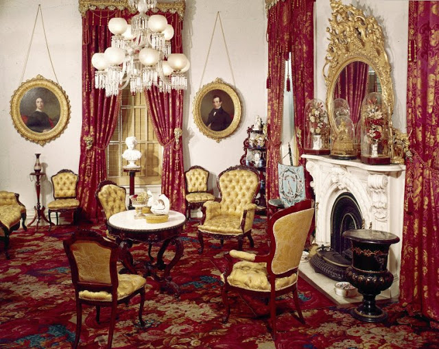 Victorian parlor installed at the Brooklyn Museum of Art