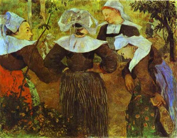 """Breton Women Chatting"" Paul Gauguin"