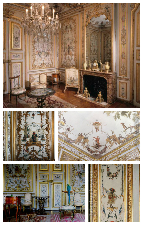 Singerie: Le Grande Singerie by Christopher Huet for the Chateau de Chantilly in France