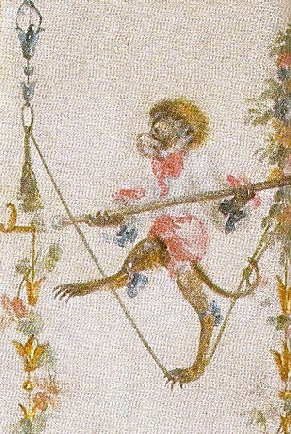 Singerie detail from the Le Grande Singerie