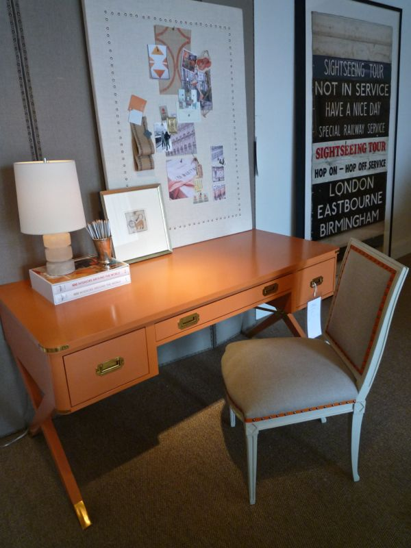 Campaign style desk by Suzanne Kassler for Hickory Chair