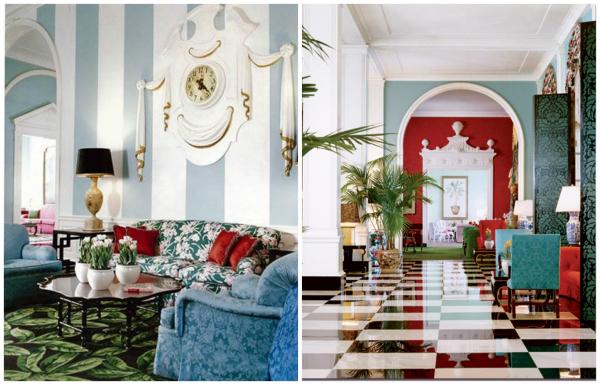 Interior design by Dorothy Draper