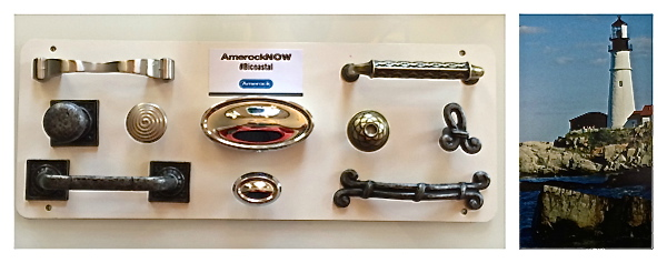 An example of a regional collection of Amerock hardware curated by Eric Cohler together with an inspiration image