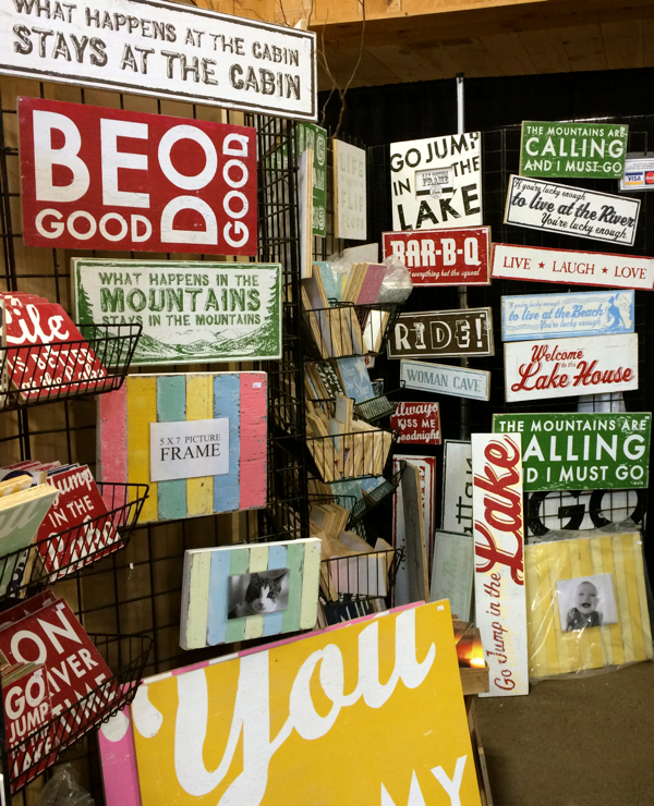 country living fair signs