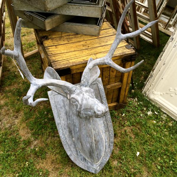country living fair zinc deer