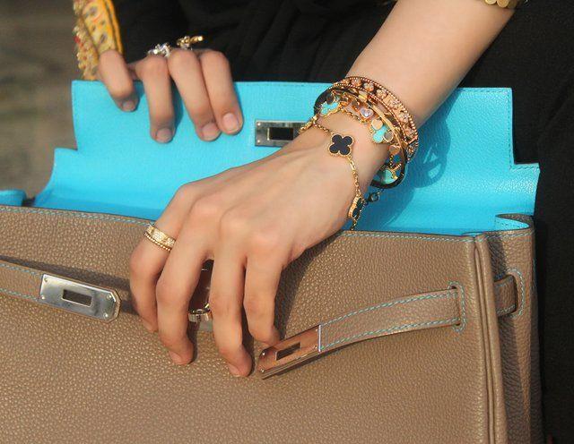 Van Cleef & Arpels Alhambra Bracelet (among other fab pieces). with its classic quatrefoil shape