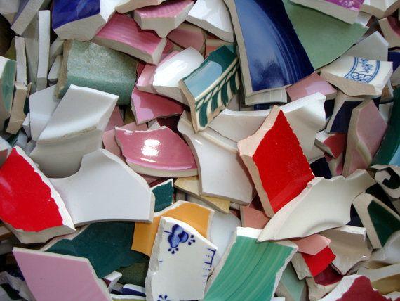 broken ceramics for pique assiette