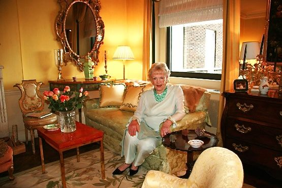 Betty Sherrill in her living room, 2007. Photography by Jeffrey Hirsch