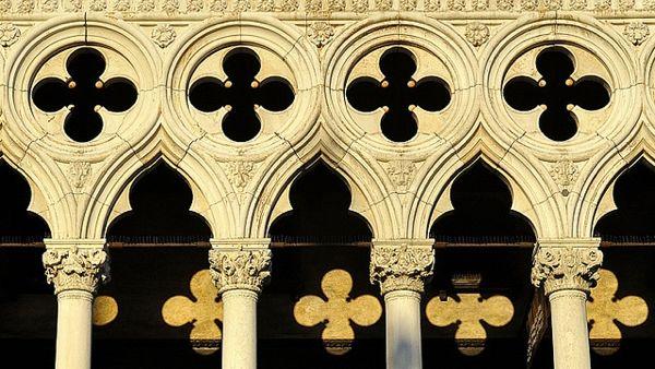 Quatrefoils on Doges palace, Venice