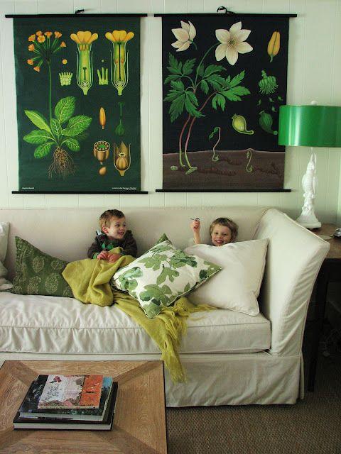 Black botanicals in the home of designer Lauren Liess