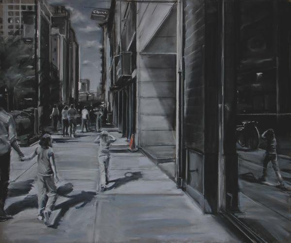 """""""Sidewalk Shadows"""" Susan Grossman"""