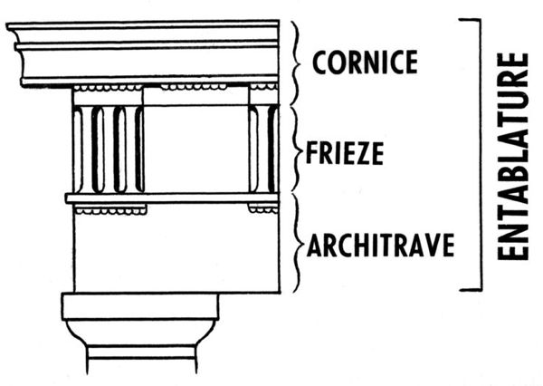 design-dictionary-entablature-line drawing
