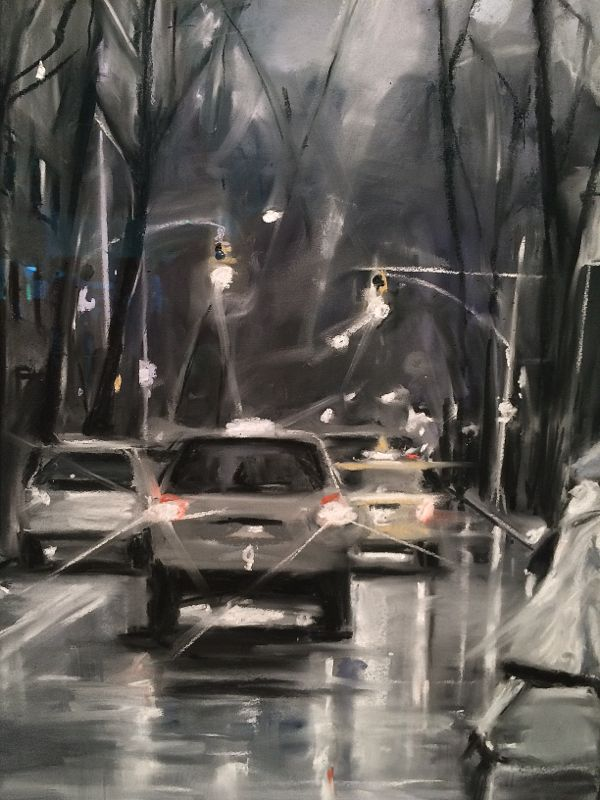 "Detail of ""Side Street' Susan Grossman"
