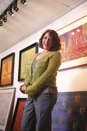 The artist, Nubiur Arellano