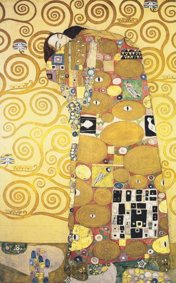 Detail of Gustav Klimt's mural at the Palais Stocklet