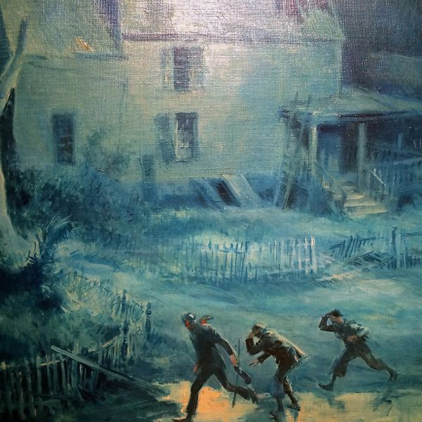 "Everett Shinn, 1876-1953 ""The Haunted House, "" 1940 oil on canvas 24 x30 inches"