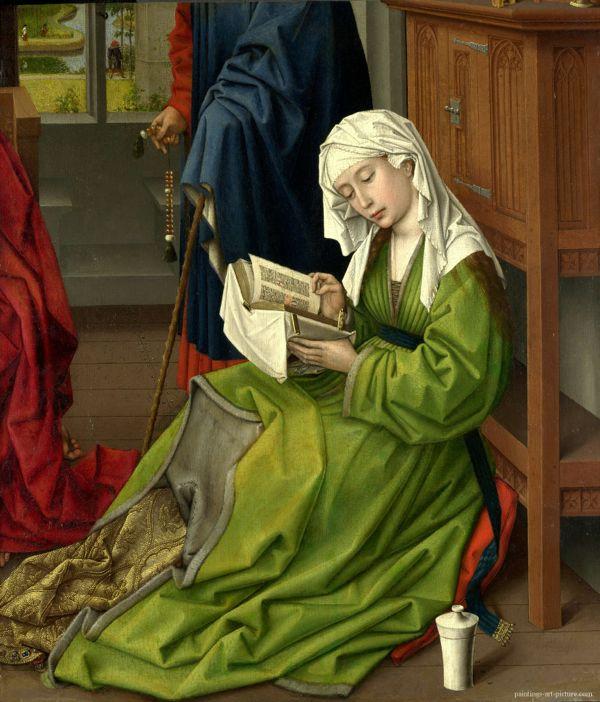 """The Magdalene Reading"" Rogier van der Weyden Mid-15th Century"
