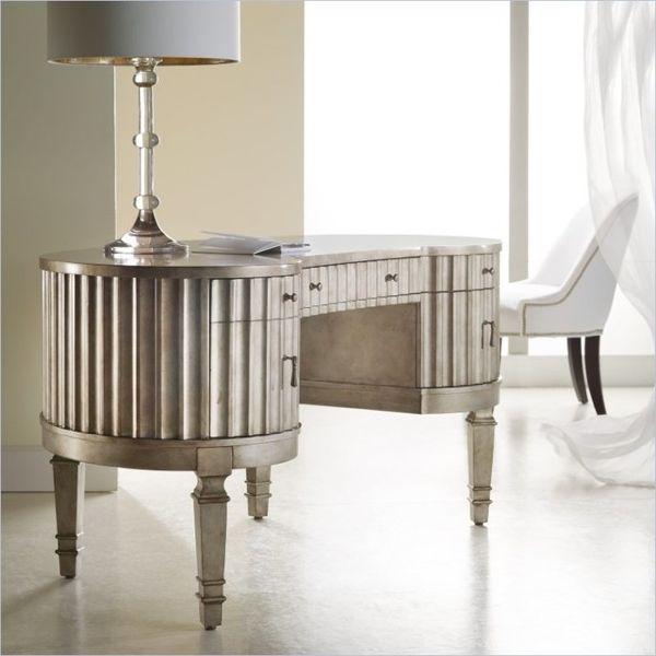 Hooker Furniture's Melange Fluted Kidney Desk