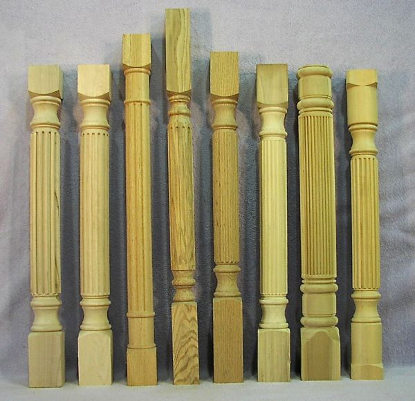 Furniture legs with fluting.