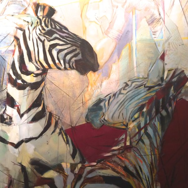 """Detail from """"Zebra"""" by Emily Lamb. Photograph by Lynn Byrne."""