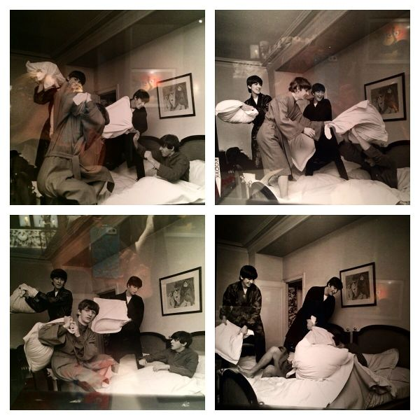 The Beatles Having a Pillow Fight photographed by Harry Benson
