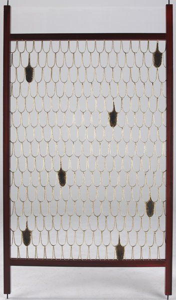 Fish scale screen by Paul Evans and Phillip Lloyd Powell