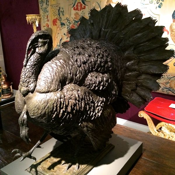 """""""The Jake"""" by Ben Panting, c. 2014 A contemporary bronze sculpture of a turkey."""