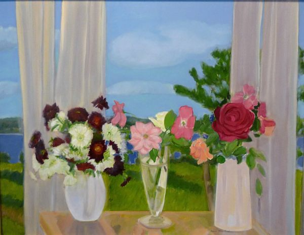 """Roses & Chrysanthemums"" 1990 oil on canvas Jane Freilicher"