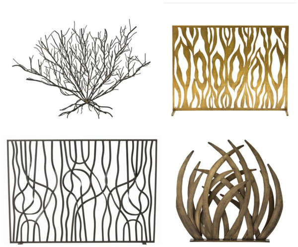 Fireplace screens from arteriors